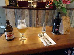 Choose interior bar if dining/lunching to avoid insects and cool off