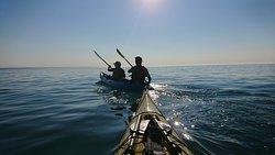 Sea kayaking in kayaking