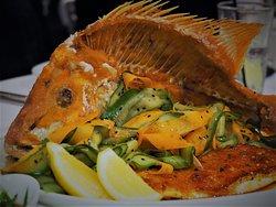 Red emperor - belly side baked portion and sald