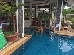 Enjoy the pool to relax