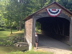 The country's oldest covered bridge - along a beautiful and easy loop trail at Glimmerglass.