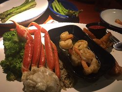 Ultimate feast missing grilled lobster tail!