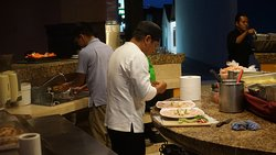 the chef prepared us sushimi, cevechi and 4 kinds of cooked fish from our catch.