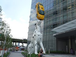 Dalmatian and Taxi Sculpture