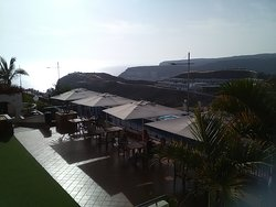 Overlooking the terrace.