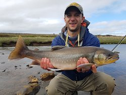 60 cm Arctic Char on a 6 weight