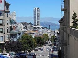 ノブヒルよりサンフランシスコ湾を望む