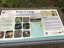 Information plate for Friars Crag at Derwent Water