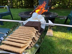 Smore's in the back garden - Part of our Sip, Savor and Swoon Pkg