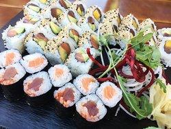 Auswahl an div. Sushi