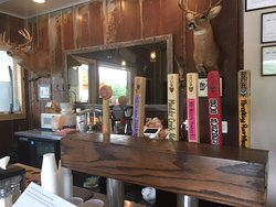 Beezer and Geezer at the Screech Owl Brewing and Spent Grain Cafe