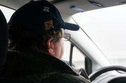 Bob driving us to Henri Chapelle American Cemetery