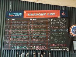 List of beers they had the day of our visit.