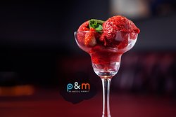 Limited edition mome-made fresh strawberry sorbet
