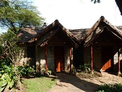 Front doors of the huts/rooms.