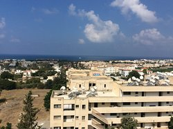 Taken from bedroom window looking down over Paphos.