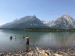 glacier fed lake that required a hike....beautiful!