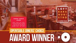 2018 Opentable Diner's Choice award winner!