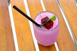 A colorful beverage at La Plage