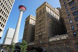 The Fairmont Palliser is beside the soaring Calgary Tower