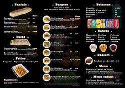 Menu Luvin's Burger (Tarif sur place ou à emporter)