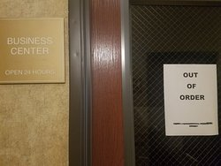"""Business center closed: """"out of order"""""""