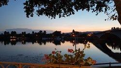 Belle soirée en bord de Saône