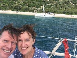 Lubienice Beach from the yacht