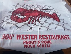 Food at Peggy's cove