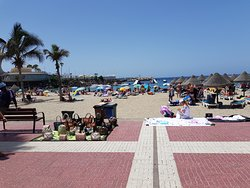 The beach of Puerto Colon. The beaches of Fanabe are pretty much the same