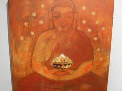 """""""Buddhainspirerad bild"""" i konstsamlingen."""