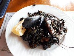 Paella y arroz negro