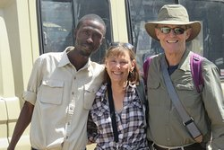 Here we are with Hamisi, our guide.