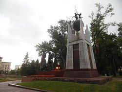 Monument to Manshuk Mametova and Aliya Moldagulova