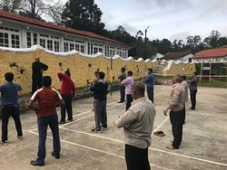 Participant learning Tai Chi from International Tai Chi instructor !