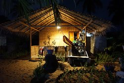 night view of chalet