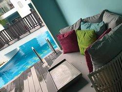 Swim up terrace