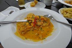 Seabass & prawns