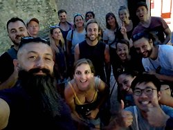 All smiles and a double thumbs up after an evening tour with Sevko!