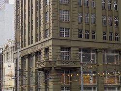 Detail of corner balconies