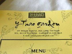 Carta do restaurante