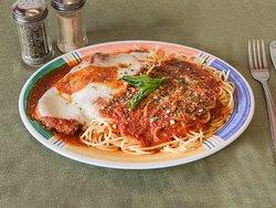 Spaghetti with Veal Parmigiana