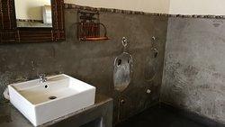 Öffentliche Toilette ohne Toilette...