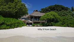 Villa 9 as viewed from the beach