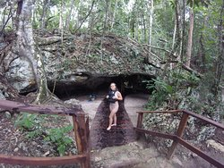 Outside cenote at Coba excursion