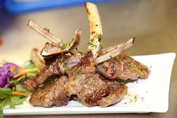 Lamb cutlets with kra pao sauce