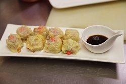 Thai Dumpling with shitake mushroom, minced pork and prawn