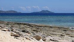 Rocky (coral limestone) western shore.