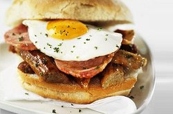 Sausage, Bacon & Egg Muffin