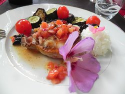 Restaurant En Catimini : Steak de Requin